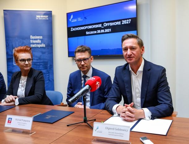 Zachodniopomorskie_Offshore 2027, uroczystość podpisania listu intencyjnego.